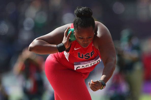 Michelle is the daughter of Michael Carter, a former Olympian and NFL star. Michael is the the only athlete to ever win an Olympic medal and a Super Bowl ring in the same year. Both Michelle and her father hold the current National High School Record in the Shot Put, the only such father and daughter situation!  Michelle Carter is the current shot put American record holder with a distance of 20.24 m (66 ft 4¾ in), which she set at the 2013 USA Outdoor Track and Field Championships.