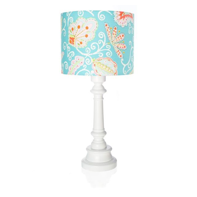 TURQUOISE FLOWERS lamp for kids - Lamps & Co.  Remarkable table lamp TURQUOISE FLOWERS is a great idea for additional lighting in children's room.