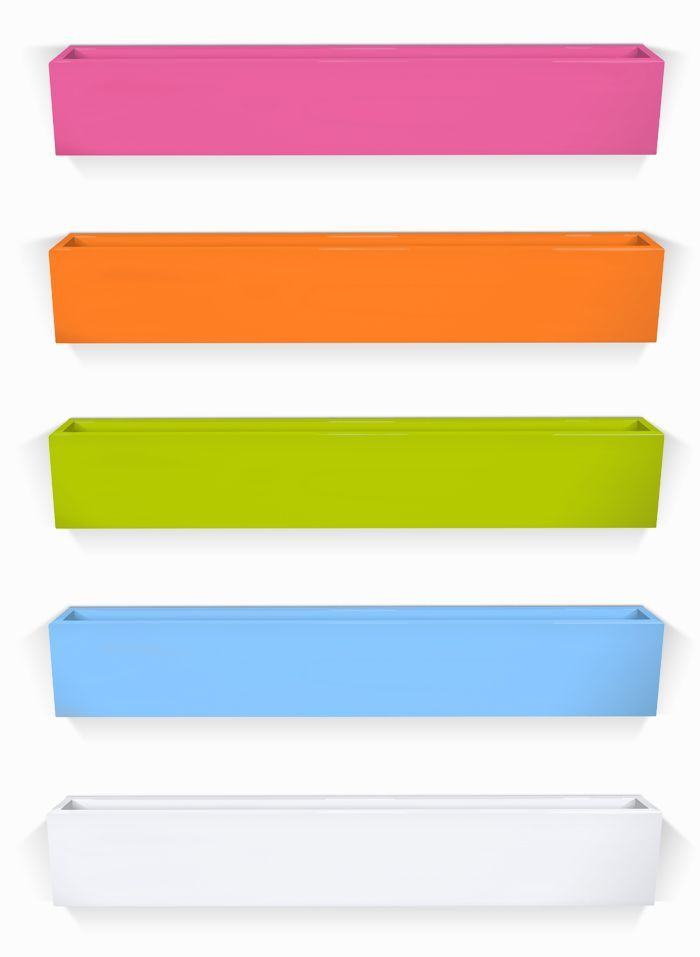 Jennifer Delonge Bookshelf - love the bright pop of color for a child's room!