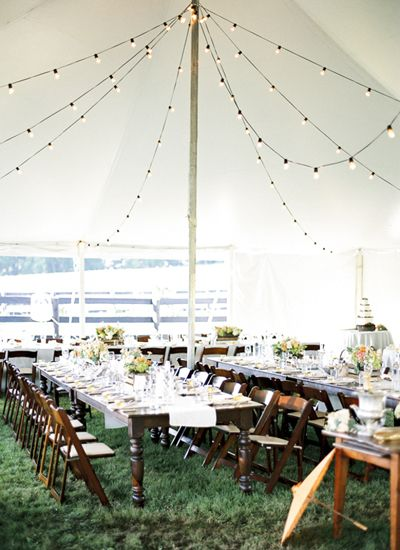 tent with string lights | Sweet Tea Photography #wedding