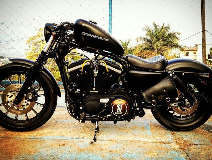 Harley Davison Iron 883  customizada by Rout T38. #Algcunha