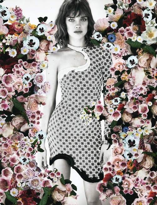 montage photography print art floral model portrait fashion photoshop