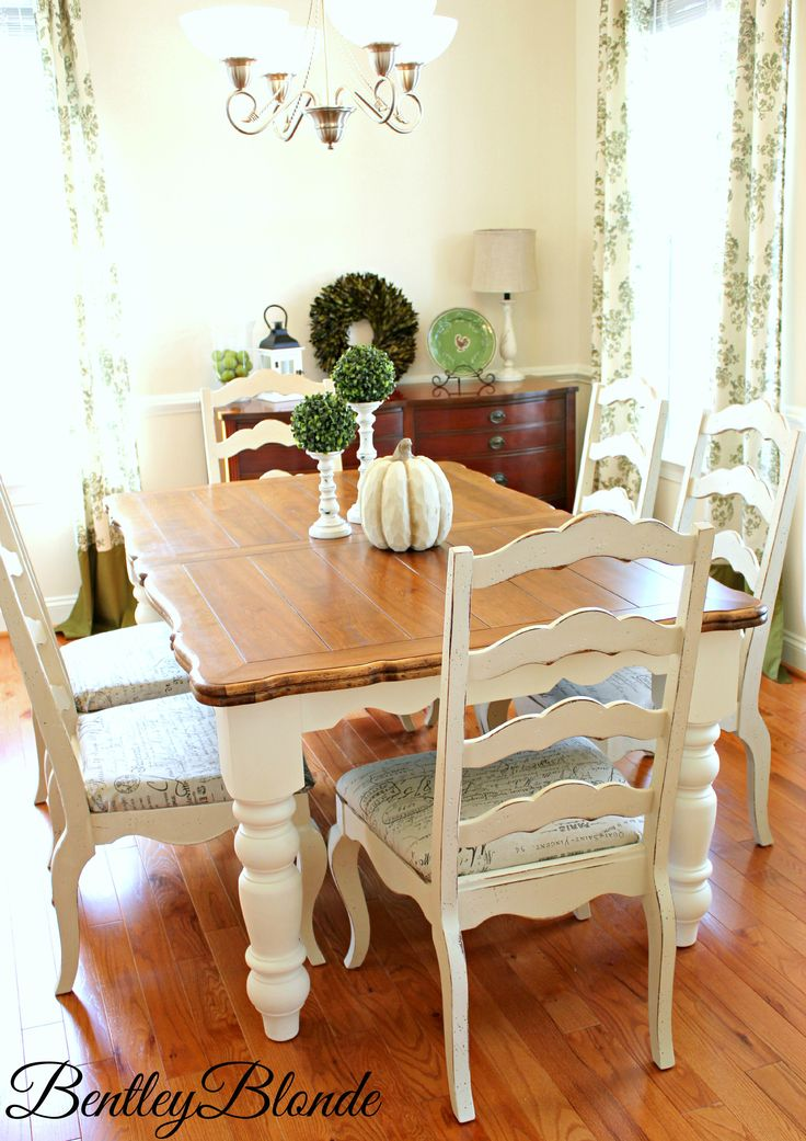 Farmhouse Table with Annie Sloan Chalk Paint