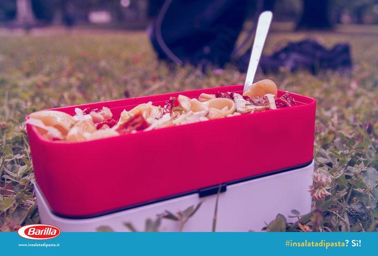 Fresca e leggera, perfetta per un momento di relax al parco! #Insalatadipasta