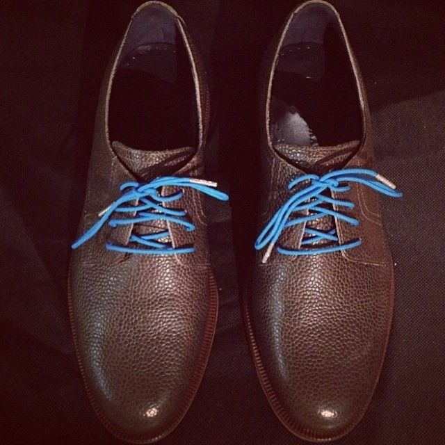 Dickie Blue laces with Silver tips - thanks to @Freddy Tu for our pic of the day. #stolenriches #shoelaces #winter2013 #menstyle #menswear #mensfashion #mensaccessories #gentlemen #fashionformen #style #shoes #instafashion#coloredlaces #preppy #dapper #shoeporn (at Stolen Riches)