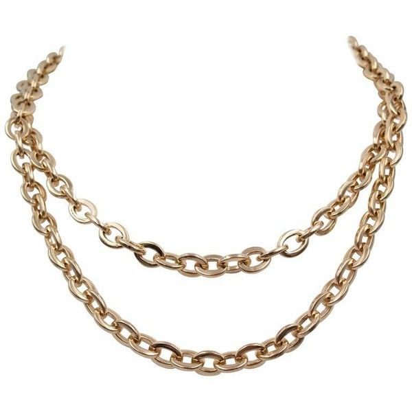 Preowned Rose Gold Nautical Link Wrap-around Necklace ($9,650) ❤ liked on Polyvore featuring jewelry, necklaces, chain necklaces, red, red necklace, long necklaces, wrap necklace, red gold necklace and chain necklace
