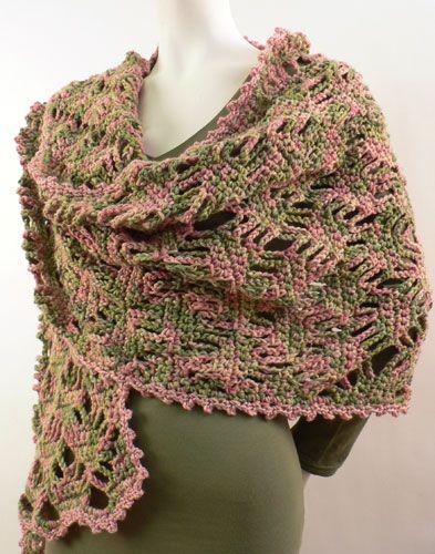 Lace Lattic Wrap free #crochet pattern