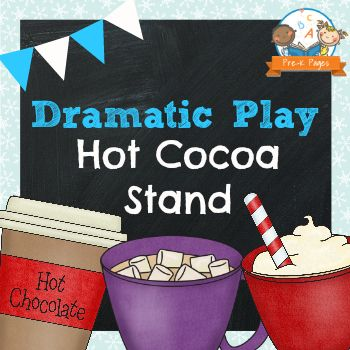 Dramatic Play Hot Chocolate Stand Printable Kit: