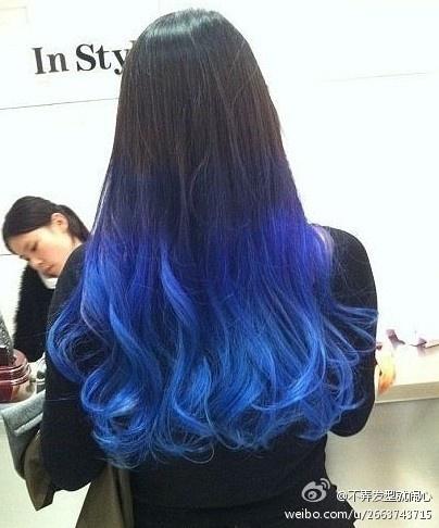 royal blue dip dye!