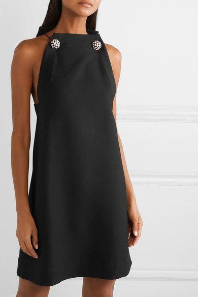 e544360b4c67 CALVIN KLEIN 205W39NYC | Crystal-embellished wool-twill mini dress | NET -A-PORTER.COM