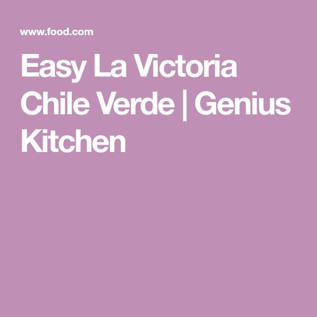 Easy La Victoria Chile Verde | Genius Kitchen