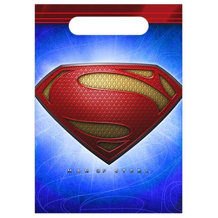 Superman Party Bag (includes 8 pcs of loot bags in a pack)