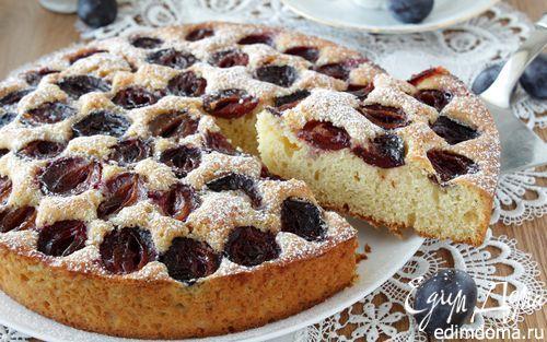 Кукурузный пирог со сливой «Едим дома!»