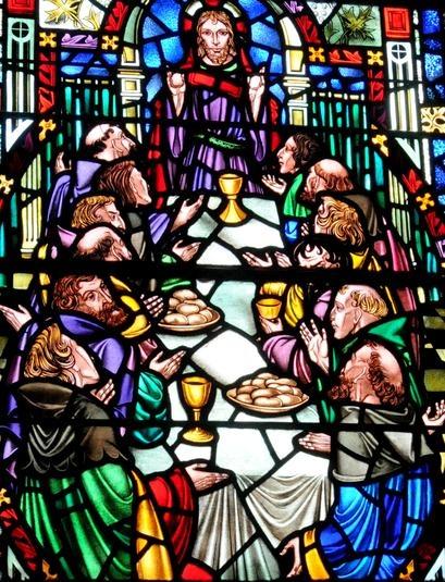 Christ Presbyterian Church Window Depicting The Last Supper