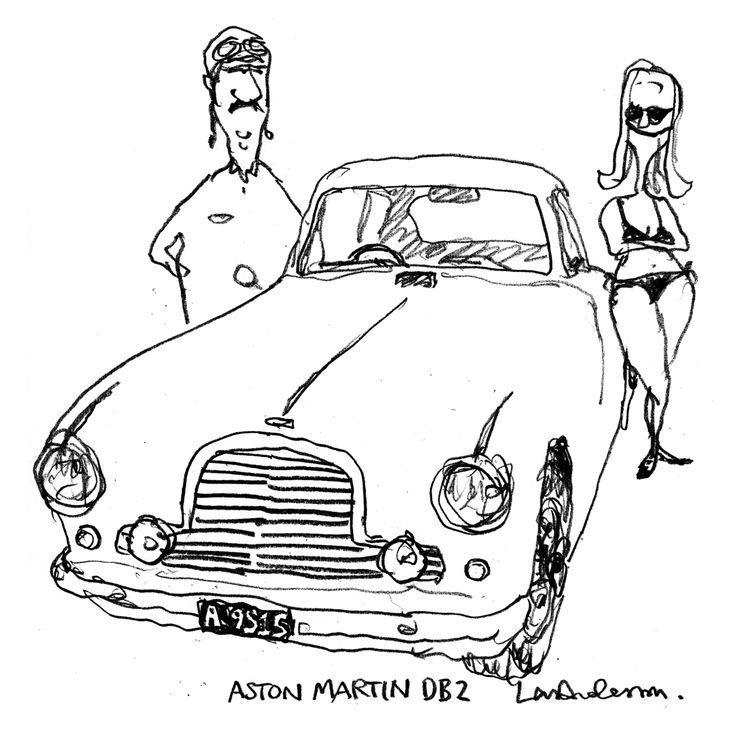 Aston Martin DB2. By Lars Andersen