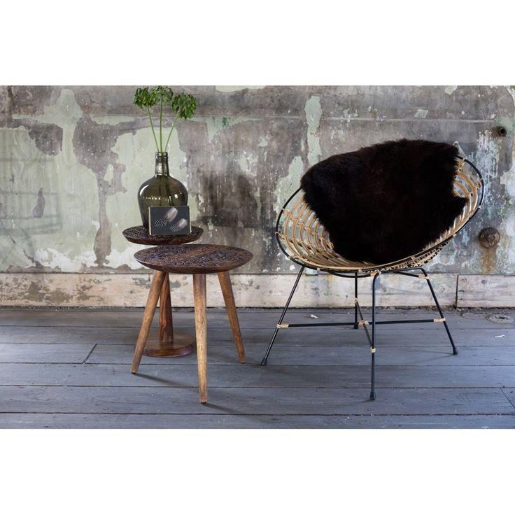 Dutchbone vintage Sheesham bijzettafel - Vintage tafels - Tafels | Zen Lifestyle