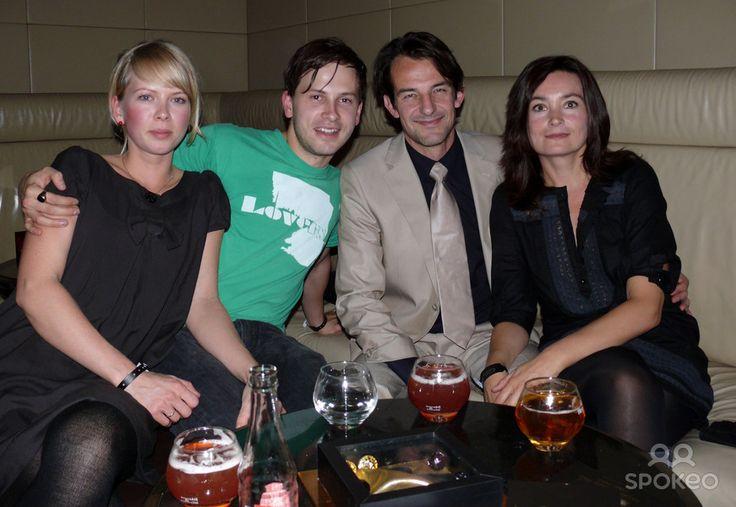 Franz Dinda, girlfriend Anja, Hans-Werner Meyer, Jacqueline Macaulay Hennessy Artistry Night at Felix club
