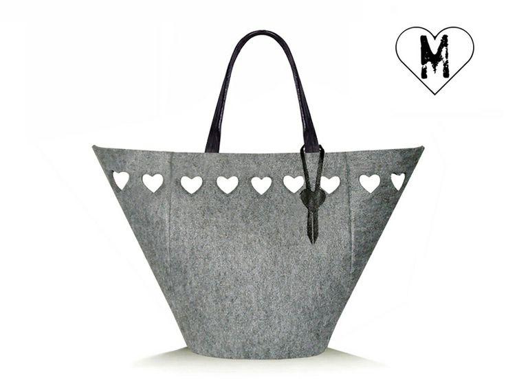 Borsa di feltro Shopper Style XL grey di modeMania su DaWanda.com