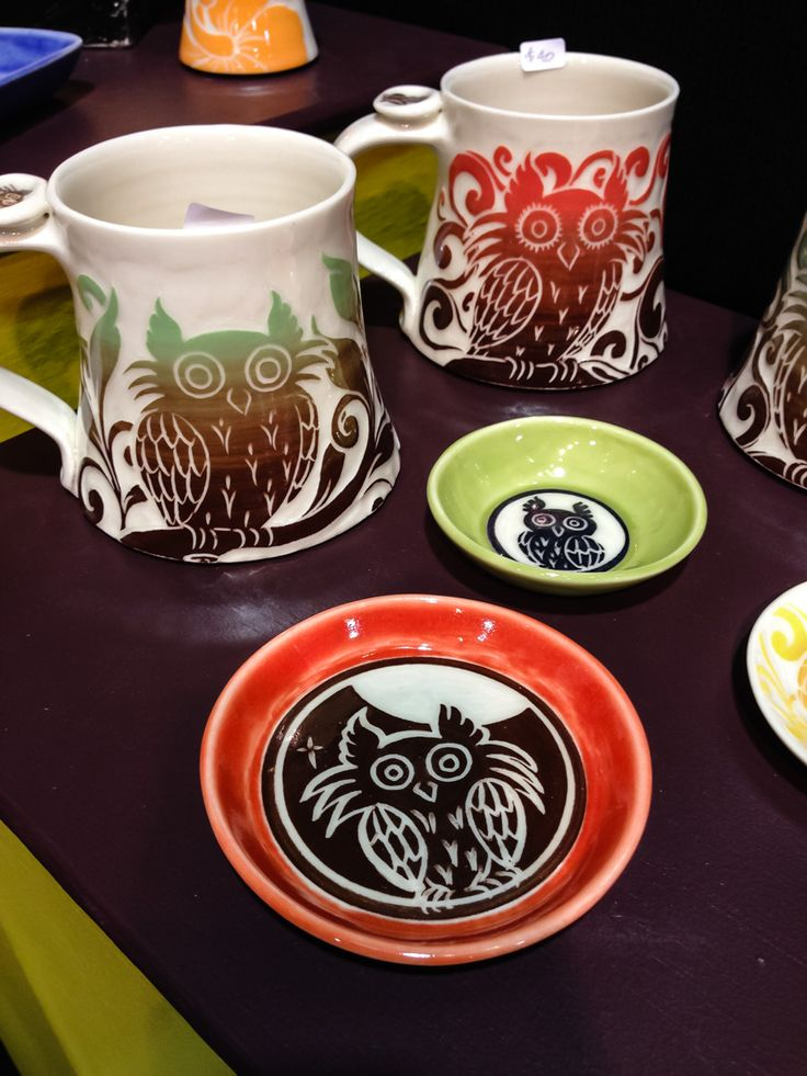 Amanda Ryznar of Yoga Goat Pottery is obsessed with owls. So are lots of us! You must know somebody who would love to have coffee with an owl every morning… In booth #226 on Gnome Alley. See http://www.holidaymarket.org for shopping info