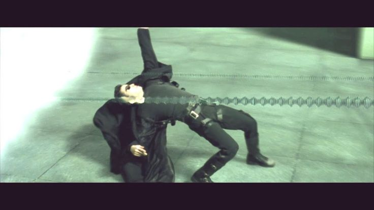 The Matrix (1999) - First live action Bullet time (HD)
