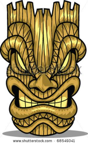 Tiki Art Girls | Vector Line Art Tiki Mask 69043798 Shutterstock | Photography
