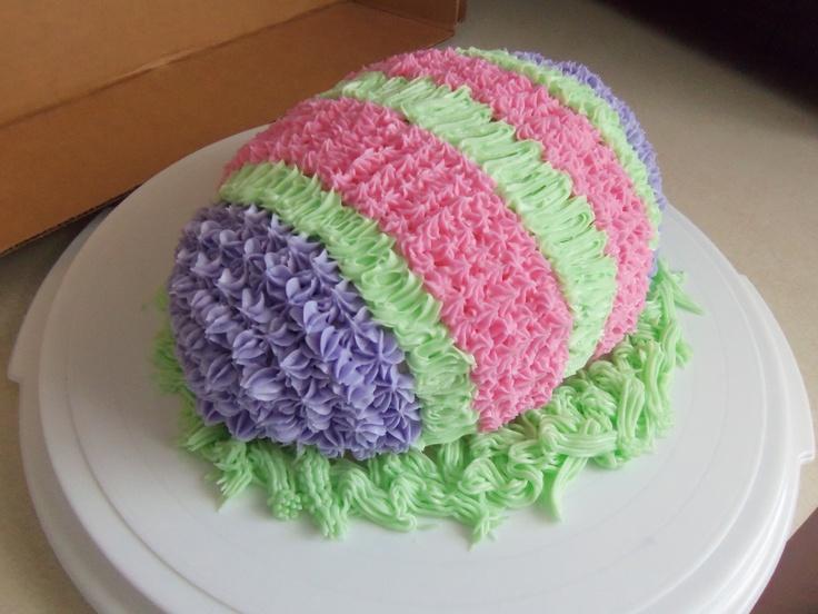 Easter Egg cake Cake decorating - seasonal Pinterest