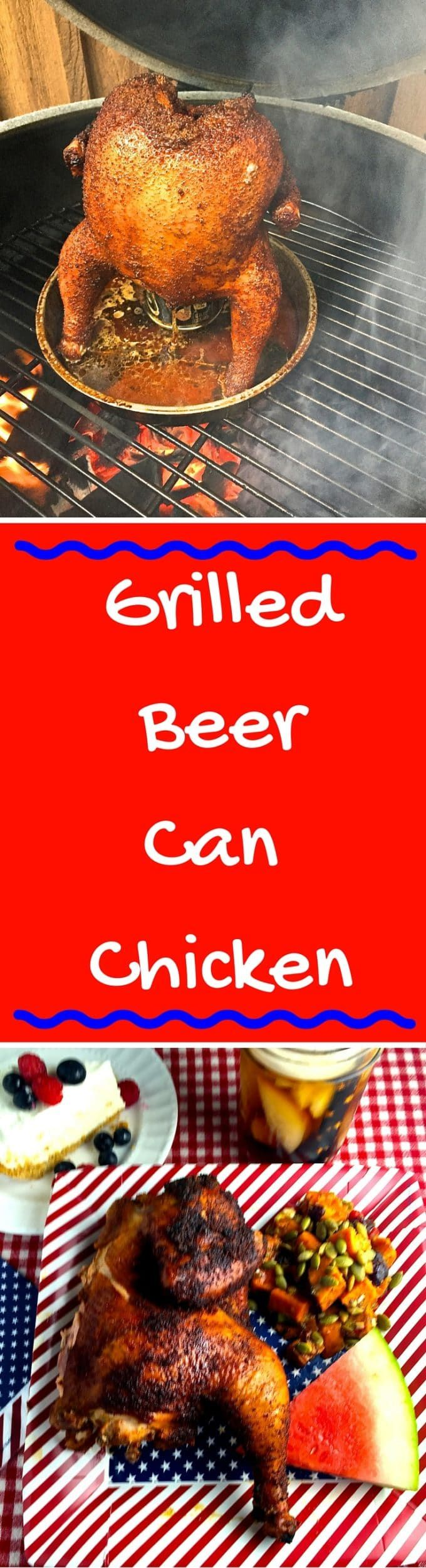 Grilled BeerCan Chicken