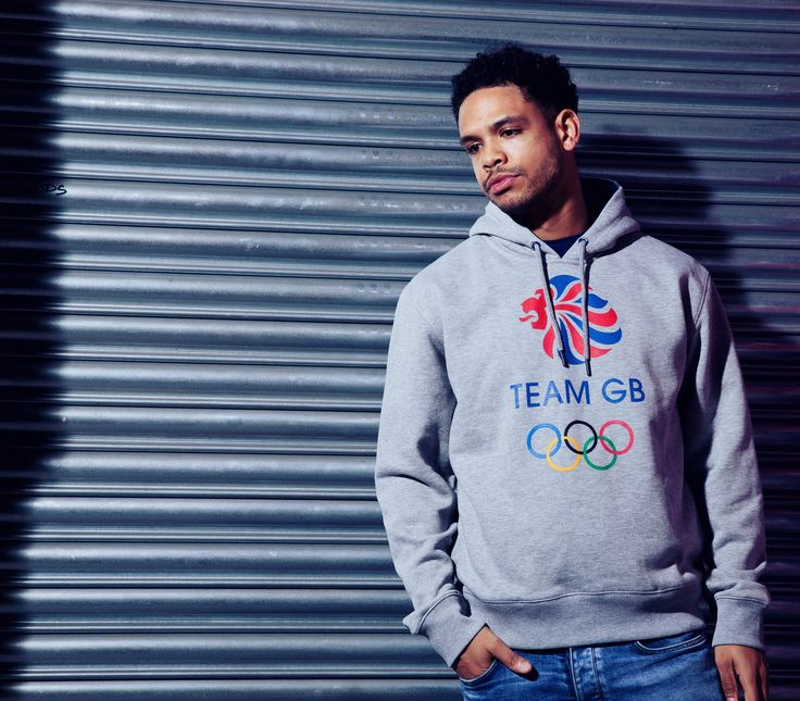 Team GB Core Logo Hoodie - Mens - Grey