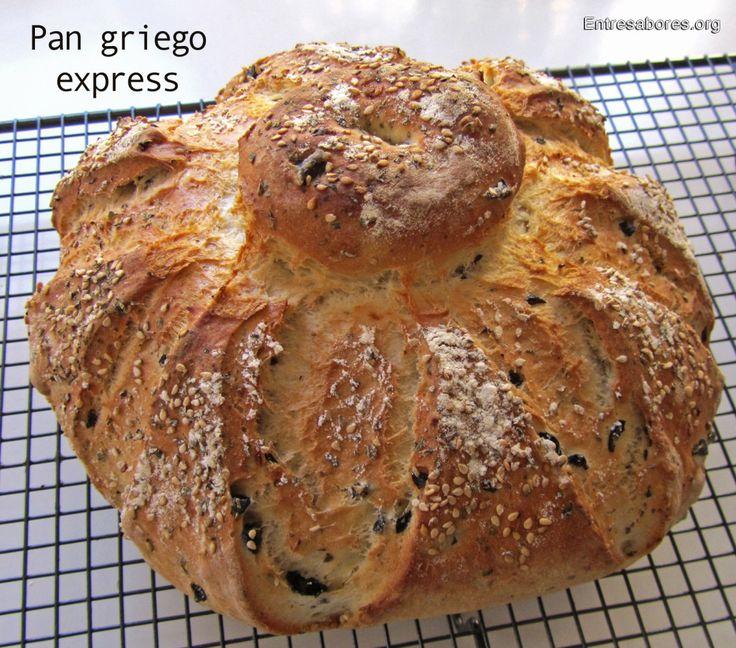 Pan griego express de cebolla y aceitunas en bolsa de asar (Con Thermomix)