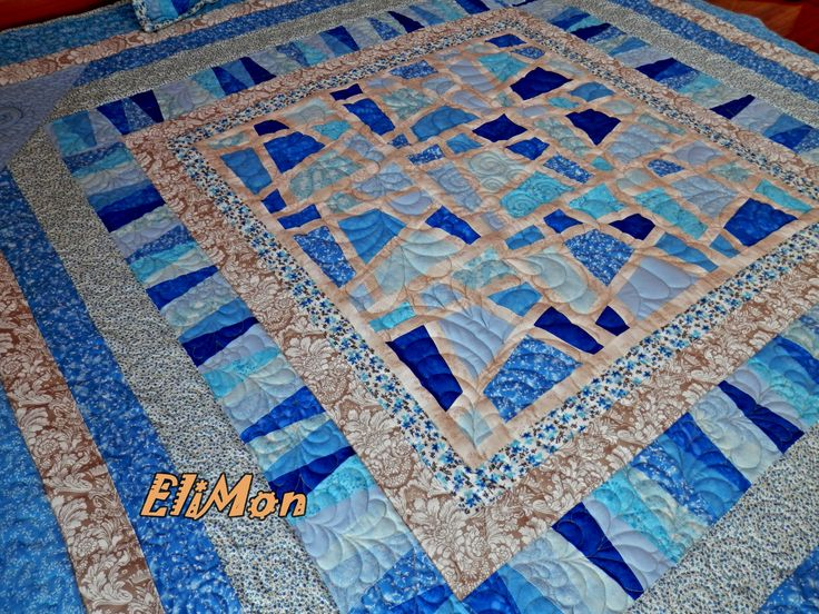 quilt patchwork,blue colors