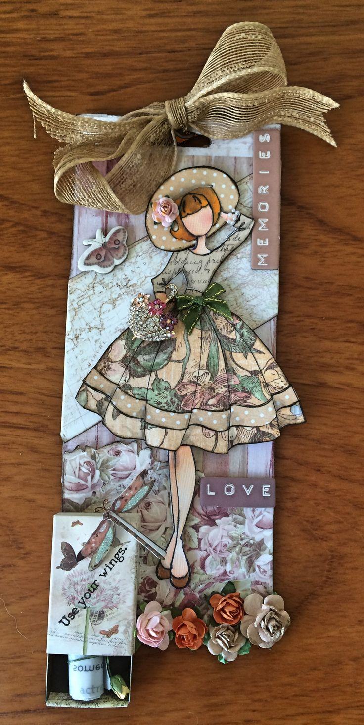 Audrey dolls stamp tag