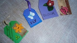 Diy - How to make beautiful tags - Altered Olga's dreamland - YouTube