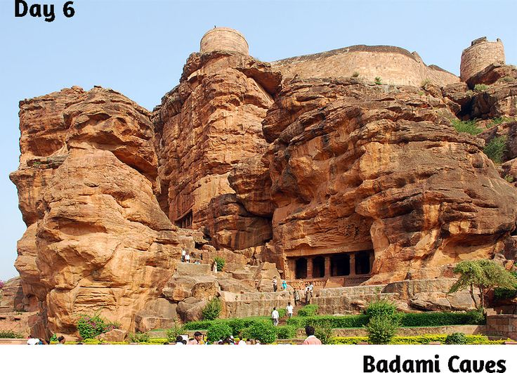 #Badami Caves: The Badami Caves is very popular tourist attraction of Karnataka.The Golden Chariot had reached to Badami caves at 6 day of 7 day luxury tour.