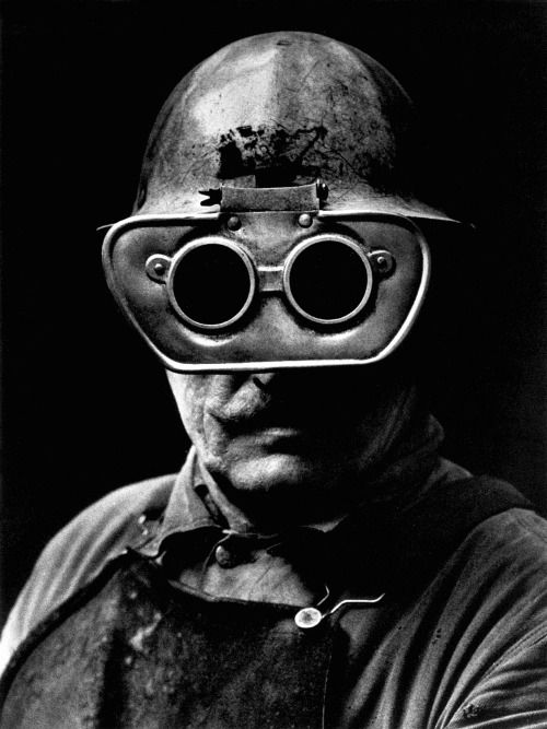 "hauntedbystorytelling: "" Jean Hermanson :: En svetsare med skyddglasögon / A welder with protective goggles, nd / more [+] by this photographer """