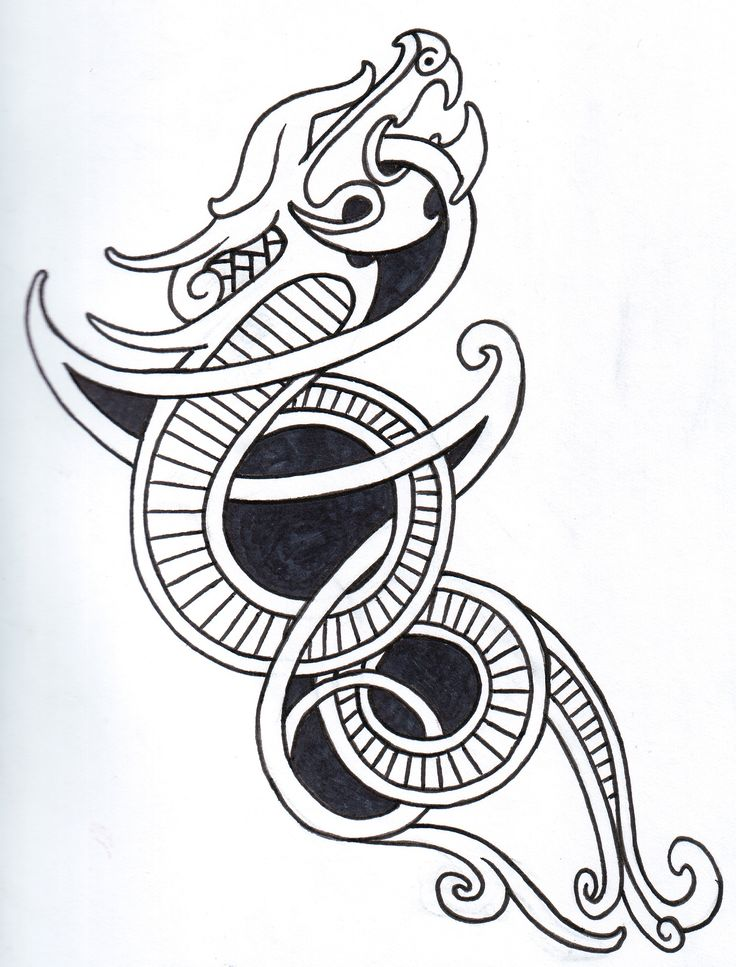 Viking Dragon Tattoos                                                                                                                                                     More