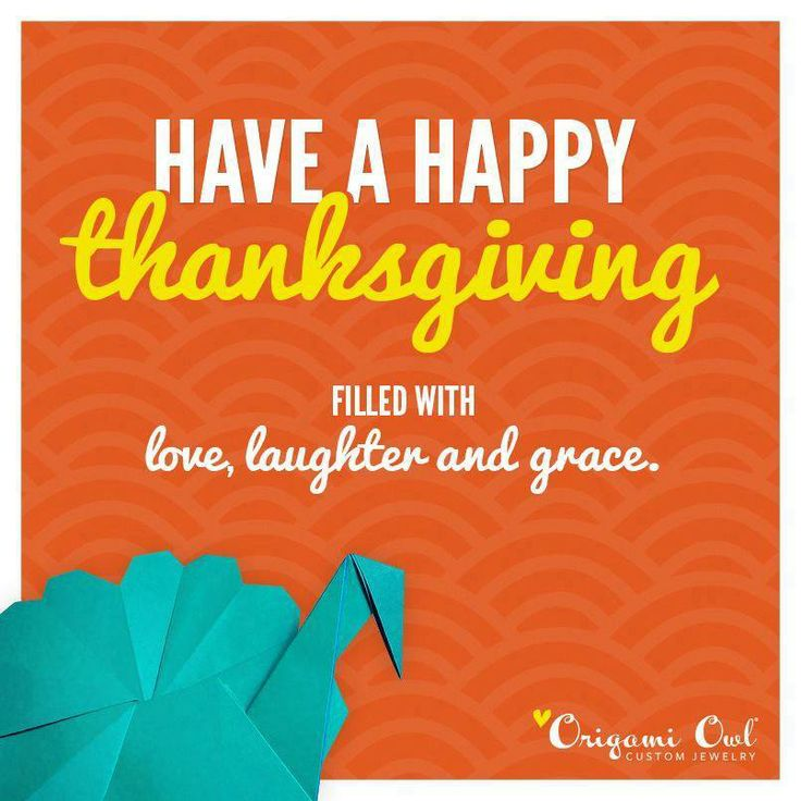 Happy Thanksgiving from Origami Owl!