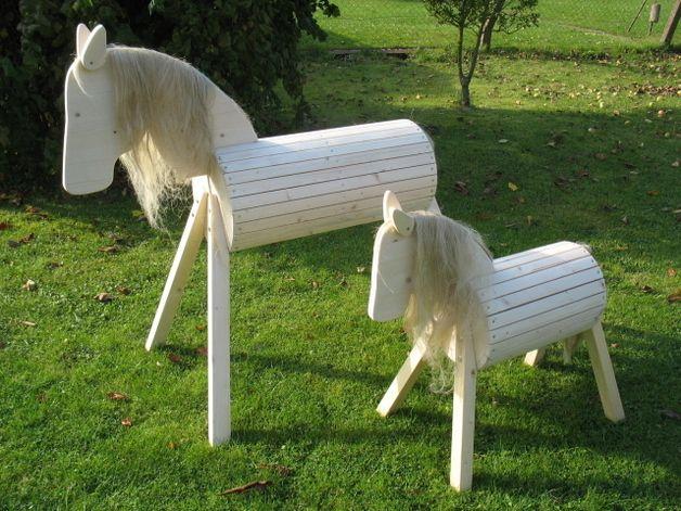 Voltigierpferd Holz Bauanleitung ~ Unser Holzpferd Hü ist bereits in unserer Region der Renner in vielen