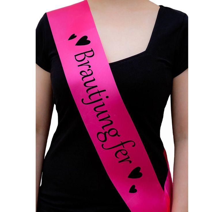 Schärpe Brautjungfer JGA Junggesellinnenabschied Party Hochzeit pink in Feierlichkeiten / Anlässe   • Hochzeit • Schärpen Junggesellinnenabschied