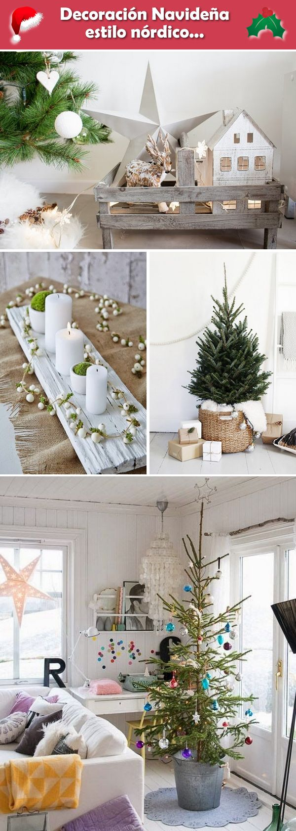 M s de 25 ideas incre bles sobre navidad escandinava en for Decoracion navidena minimalista
