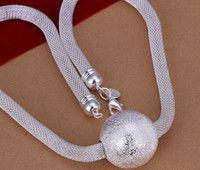 silver reticular necklace