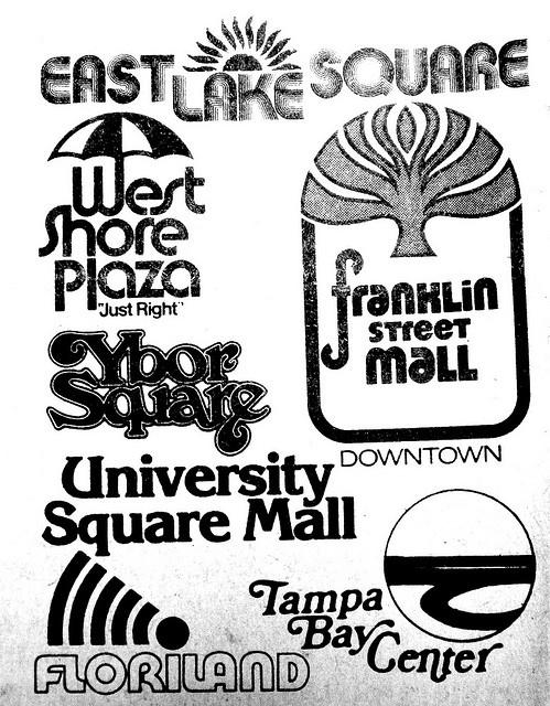 Tampa's Mall logos, 1981 by JSDesign, via Flickr