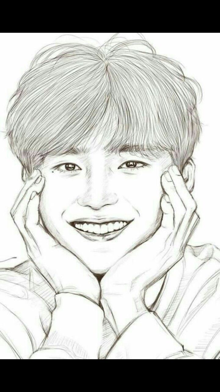 Lee jong suk di 2020 Lukisan wajah, Cara menggambar, Sketsa