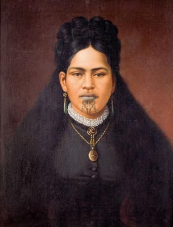 Portrait of a Maori Woman in Colonial Dress | Webbs – New Zealands Premier Auction House: Fine, Tribal & Decorative Arts, Jewellery, Books, Wine, Cars & Bikes, Valuations