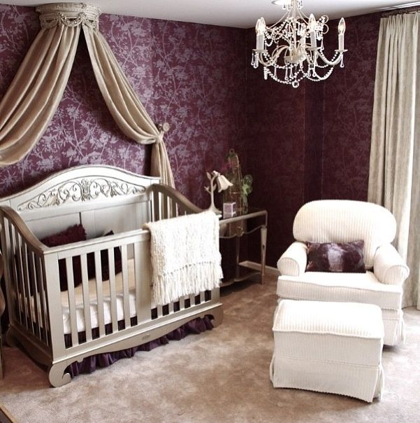 Nurseries fit for a royal baby...I'm trying to figure out how to make something similar to the canopy above the crib for my girl