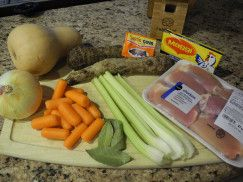 Ingredients For Cuban Chicken Soup Dice Up Carrots Celery And Onion And Place In