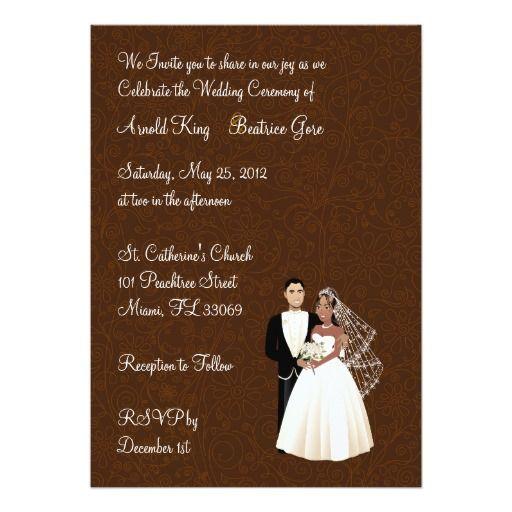 American Wedding Invitations: African American Wedding