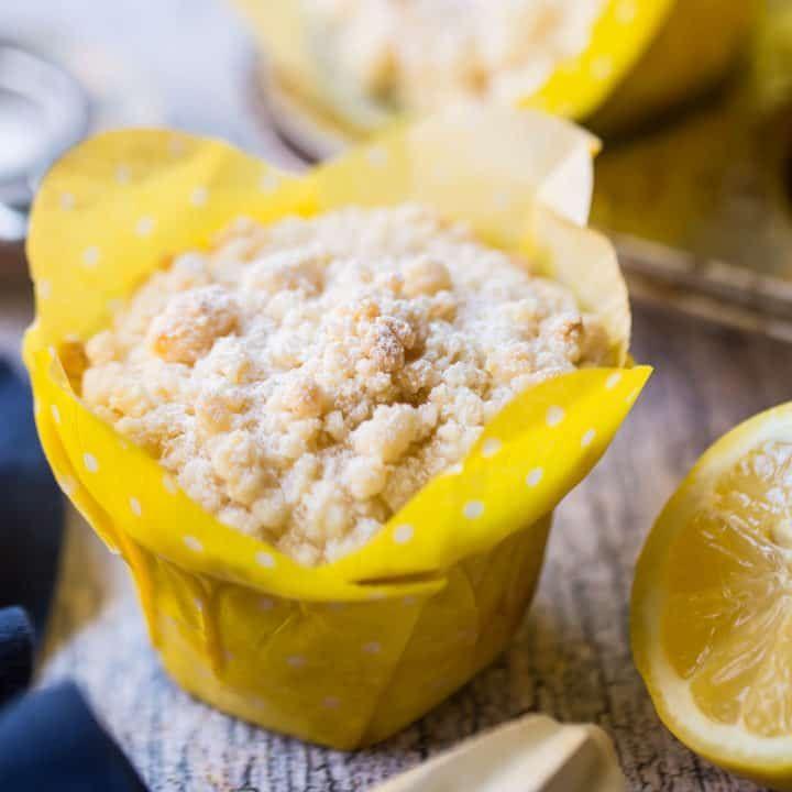Muffins au citron et à la mie: aimez-les avec une tasse de thé. Facile à faire, et si agréable …   – Muffins