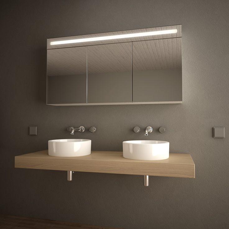 Die besten 25+ Bad spiegelschrank mit beleuchtung Ideen auf Pinterest - badezimmer spiegelschrank mit beleuchtung