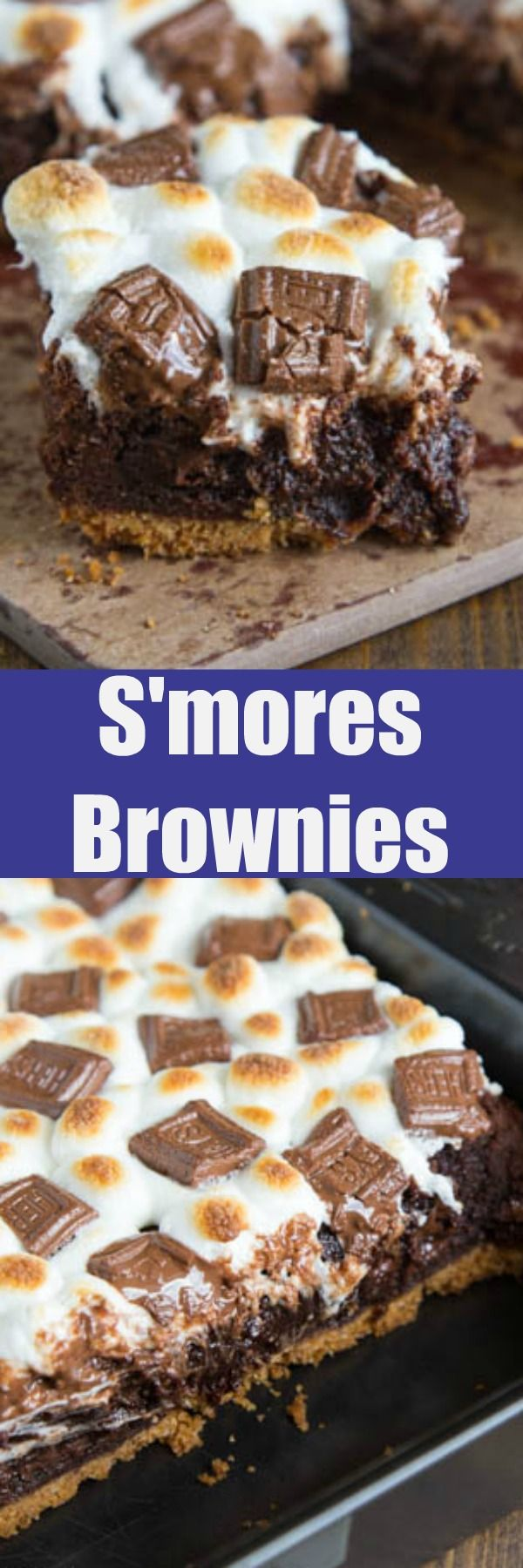 S'mores Brownies Rich, fudgy homemade brownies on a