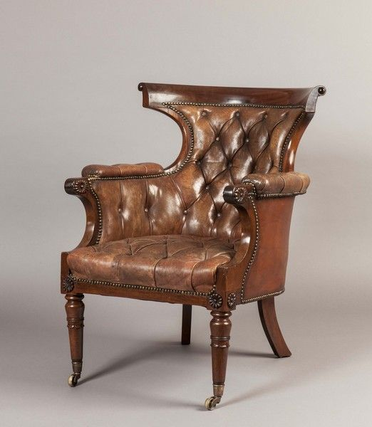 "A Georgian Antique Armchair Ca1825 England. 37.01""H x 27.95""W x 33.07""D."